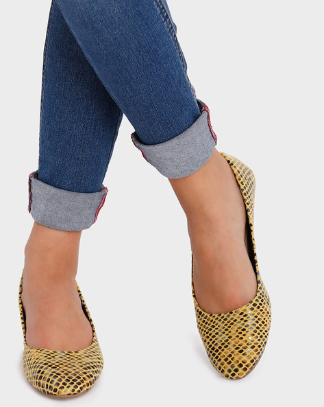 Textured Wedges By Get Glamr ( Yellow )