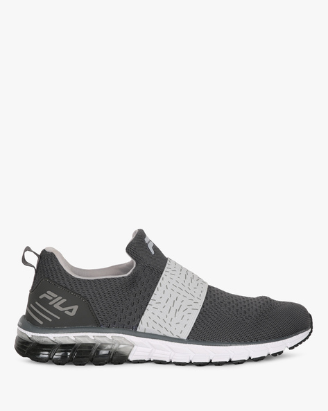 Slip-On Casual Shoes With Contrast Panel By FILA ( Grey )
