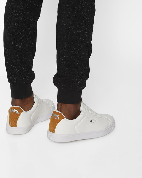 Lace-Up Casual Shoes By British Knights ( White )