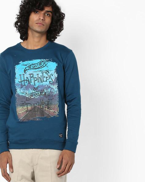 Graphic Print Cotton Sweatshirt By Killer ( Metgold )