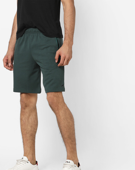 Mid-Rise Shorts With Insert Pockets By ALCIS ( Olive )