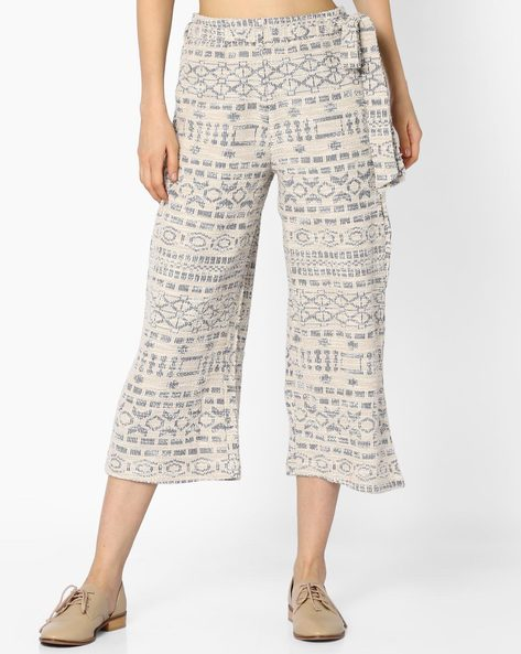 Culottes With Tie-Up Belt By And ( Ltmulti )