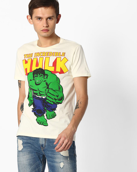 Hulk Print Crew-Neck T-shirt By FLYING MACHINE ( Assorted )