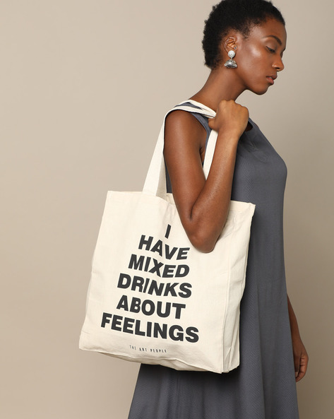 Multipurpose Cotton Canvas Tote Bag By The Art People ( White ) - 460179695001