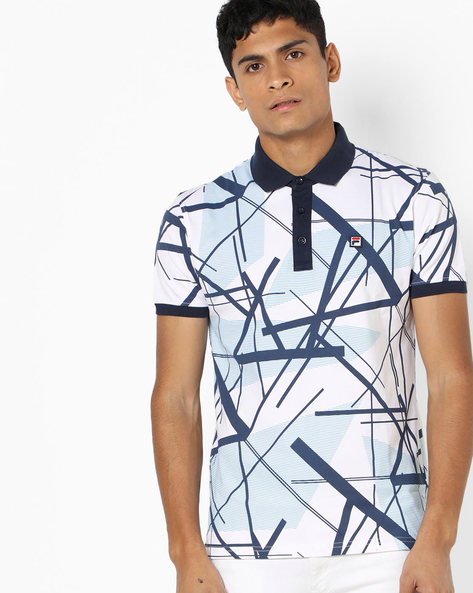 Windsor Polo T-shirt With Graphic Print By FILA ( White )