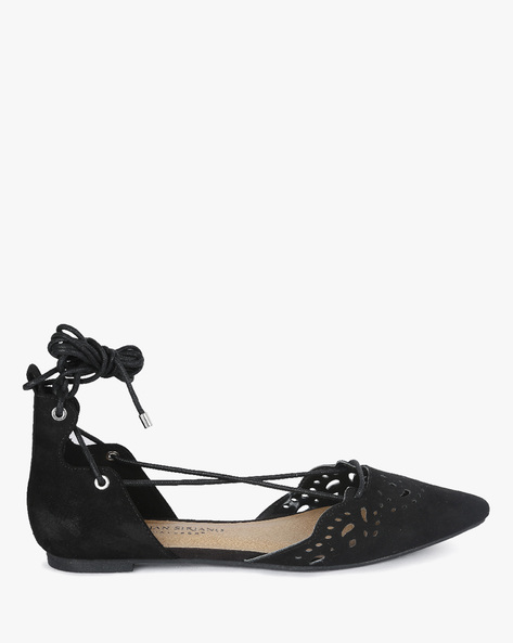 Ghillie Flats With Cut-Out Details By CHRISTIAN SIRIANO ( Black )