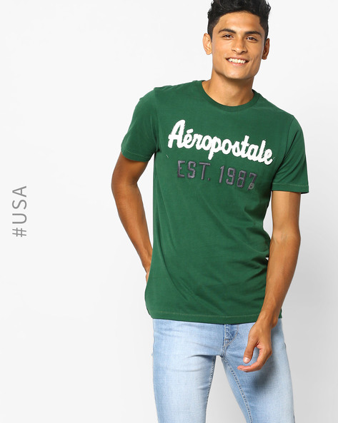 Crew-Neck T-shirt With Applique By Aeropostale ( Green )