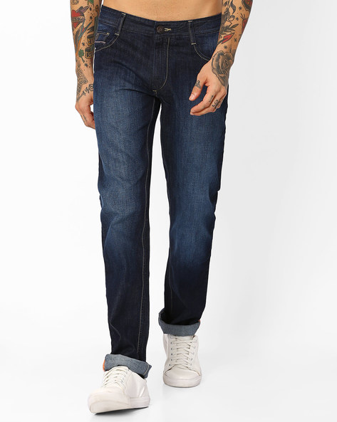 Lightly Washed Slim Fit Jeans By JOHN PLAYERS ( Blue ) - 460057800001