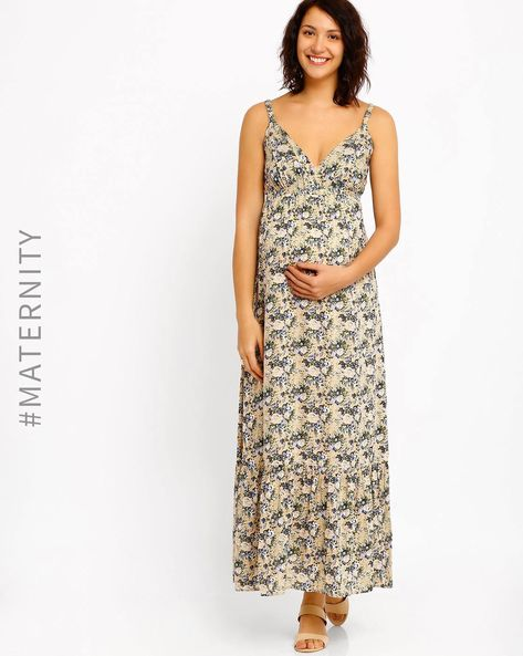 Printed Maternity Dress By Oxolloxo ( Beige )
