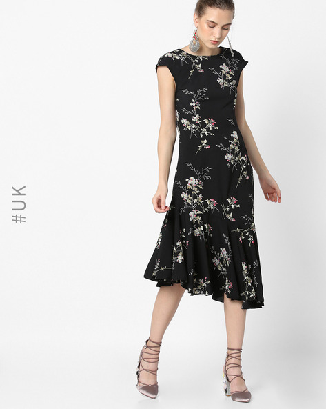 Floral Print Dress With Cutout Back By OEUVRE ( Multi )