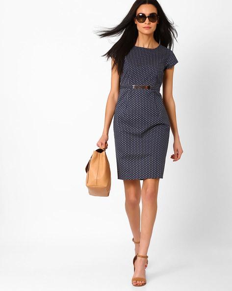 Ditsy Print Sheath Dress By AJIO ( Navyblue )