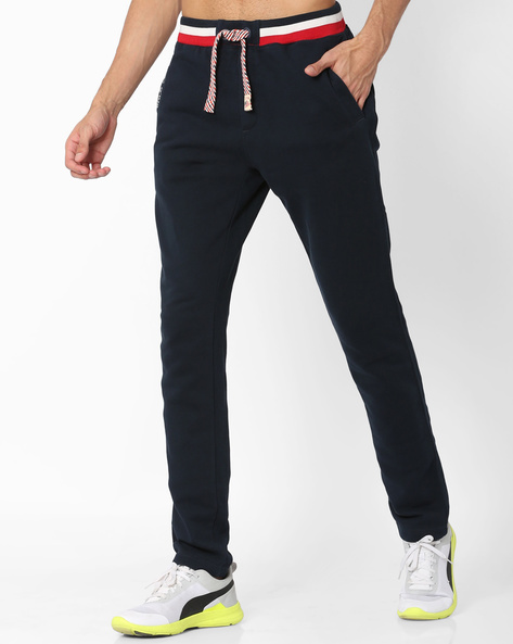 Cotton Slim Track Pants By US POLO ( Navy )