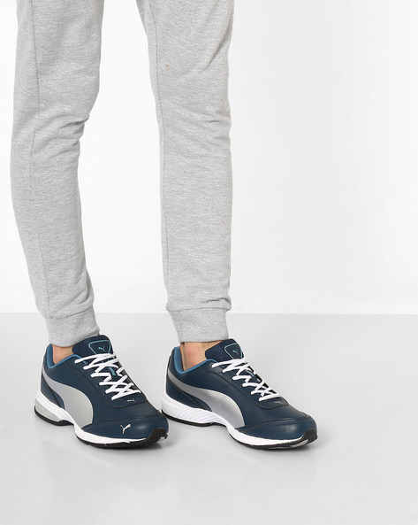 Roadster XT Lace-Up Training Shoes By Puma ( Blue )
