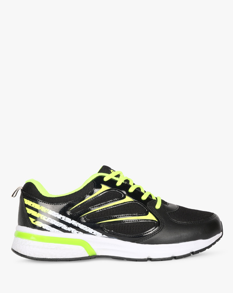 Panelled Colourblock Sports Shoes By DUKE ( Black )