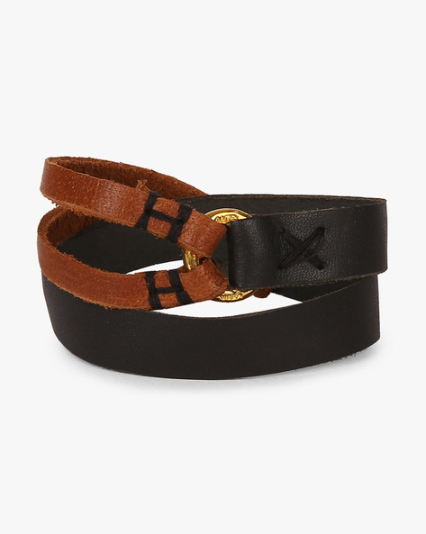 Double-Wrap Genuine Leather Bracelet By Alto Vida ( Multi )