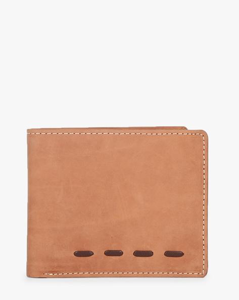 Leather Bi-Fold Wallet By TEAKWOOD LEATHERS ( Brown )