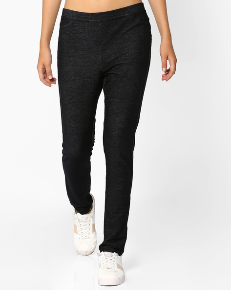 Mid-Rise Jeggings With Pockets By Vero Moda ( Black )