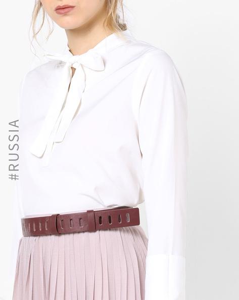 Waist Belt With Buckle Closure By Kira Plastinina ( Wine )