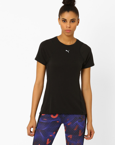 Panelled T-shirt With DryCELL By Puma ( Black )