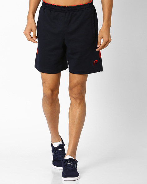 Shorts With Knit Tapes By PROLINE ( Navy )