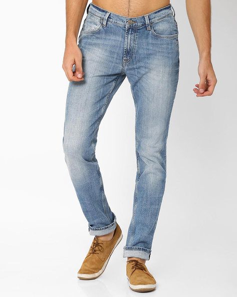 Skinny Fit Tapered Jeans By Lee ( Lightblue )