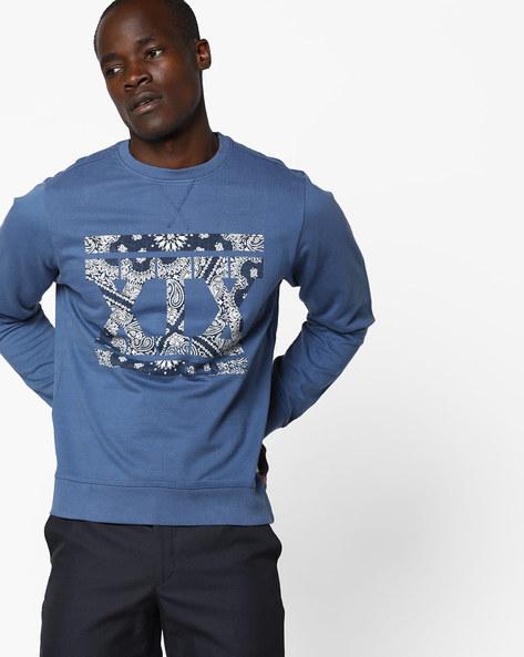 Printed Crew-Neck Sweatshirt By FLYING MACHINE ( Assorted )