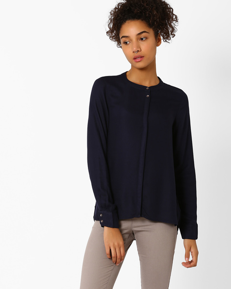 Shirt With Long Sleeves By Vero Moda ( Blue )