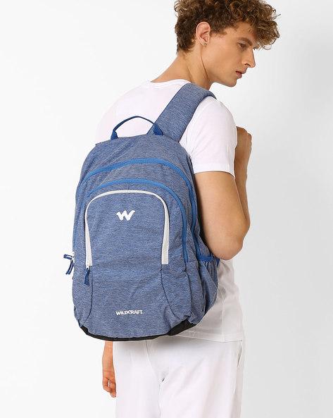 Textured Nylon Backpack By Wildcraft ( Darkblue )