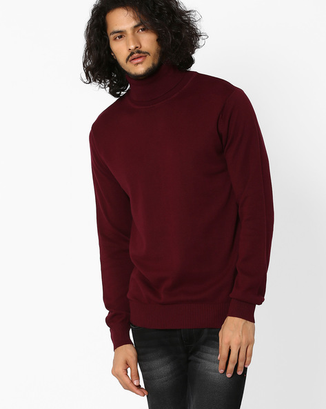 Regular Fit Turtle-Neck Sweater By Pepe Jeans ( Burgundy )