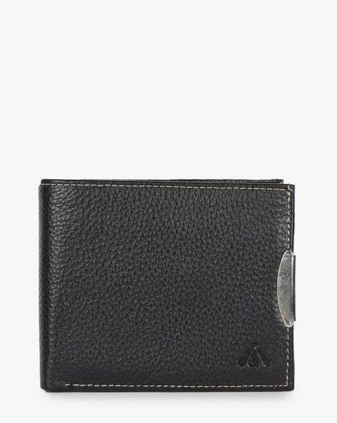 Genuine Leather Textured Bi-Fold Wallet By ALVARO CASTAGNINO ( Black ) - 460135648001