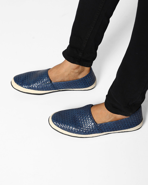 N9-Treated Faux Leather Casual Shoes By AJIO ( Navy ) - 460080036008