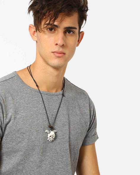 Skull Pendant Necklace By ALPHA MAN ( Multicolor )