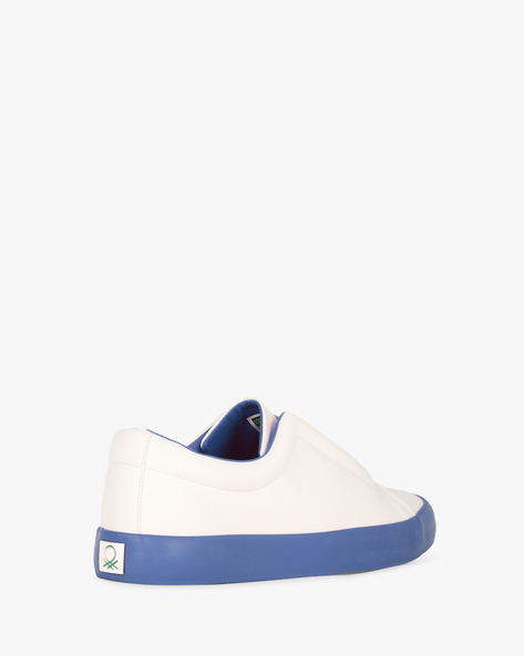 Low-Top Colourblock Sneakers By UNITED COLORS OF BENETTON ( Blue )