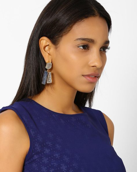 Embellished Drop-Earrings By AJIO ( Multi )