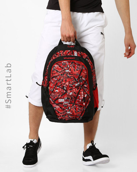 City Print Backpack By Wildcraft ( Red )