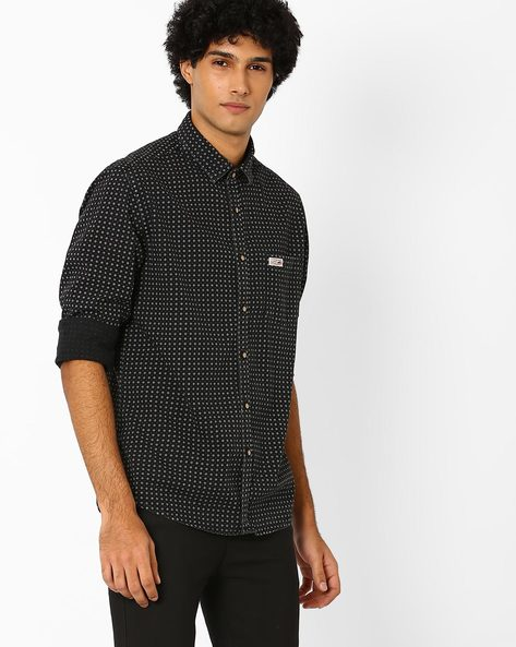 Slim Fit Printed Shirt By US POLO ( Assorted )