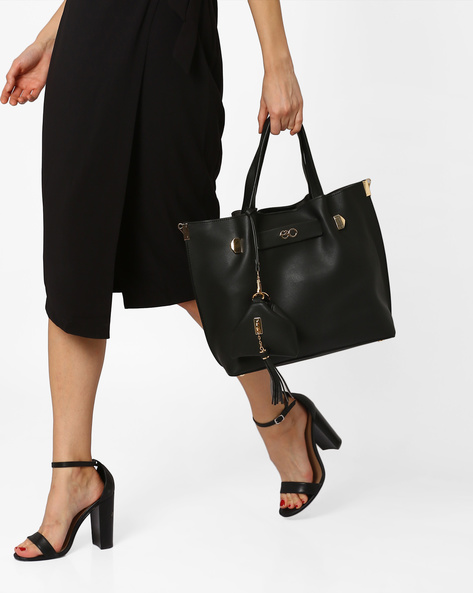 Bag In Bag With Mini Wallet By E2O ( Black )