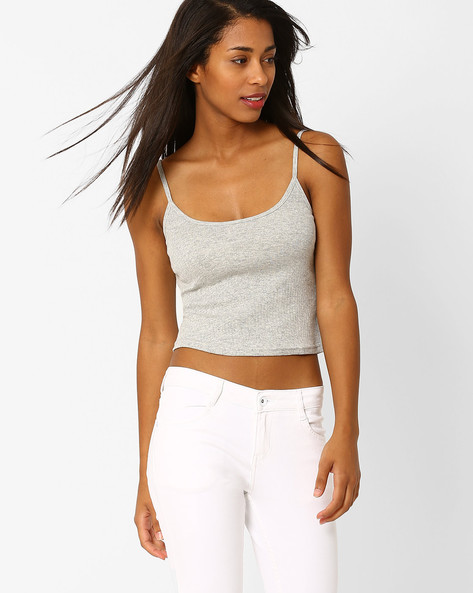 Cotton Camisole By Only ( Grey )