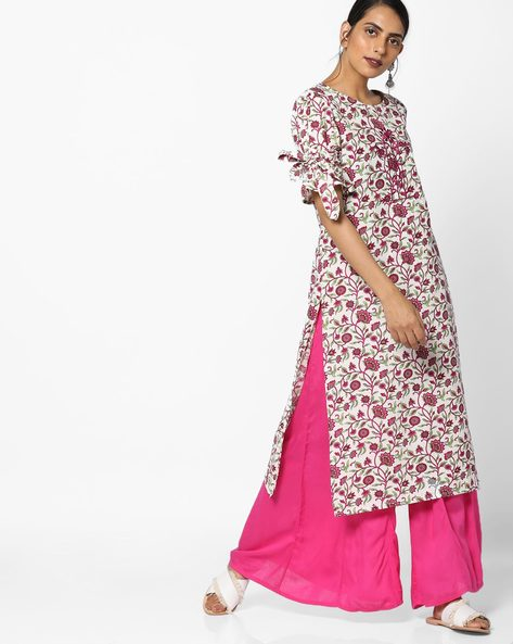 All-Over Floral Print Kurta By AJIO ( Multi )