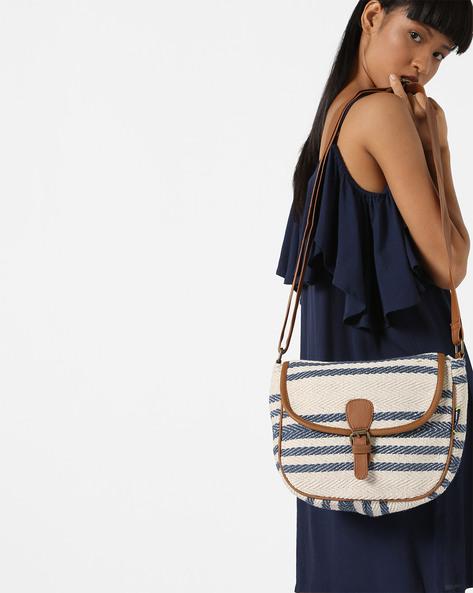 Jacquard Weave Sling Bag By Kanvas Katha ( Tan ) - 460124253001