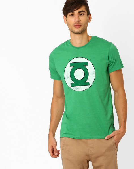 Green Lantern Print T-shirt By Free Authority ( Green )
