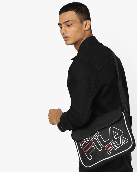 Apollo Printed Sling Bag By FILA ( Black )