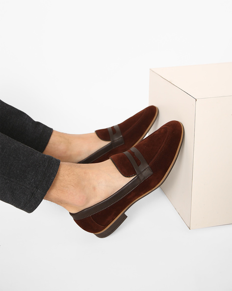 Slip-On Shoes With Stacked Heels By Modello Domani ( Brown )