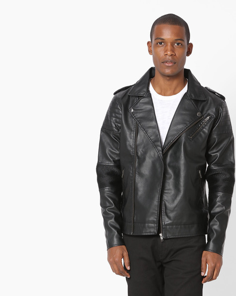 Jacket With Quilted Panels By FLYING MACHINE ( Black )