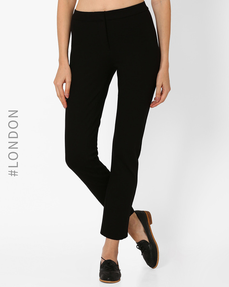 Secret Slimming Tapered Trousers By Marks & Spencer ( Black )