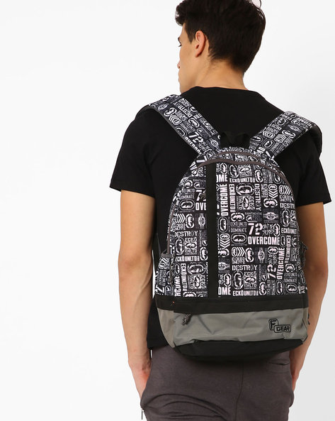 Burner Casual Printed Backpack By F-GEAR ( White )