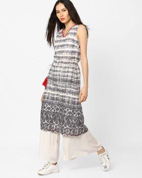 Slim-Fit-Printed-A-line-Dress