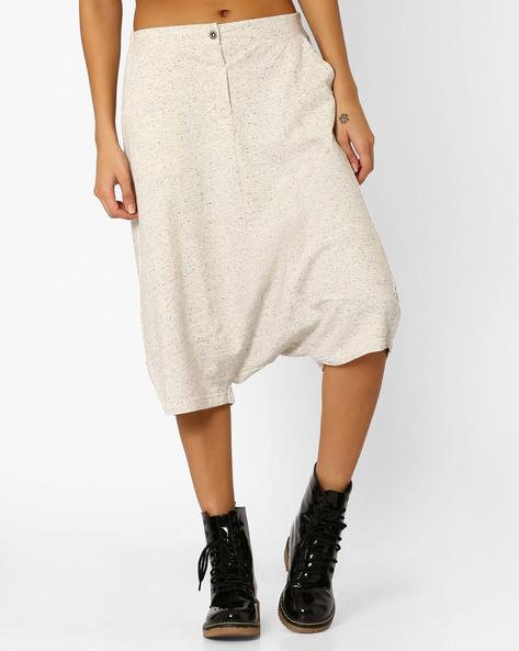 Anti-Fit Culottes With Slant Pockets By AJIO ( Ecru )