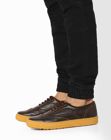 Wing-Cap Brogue Shoes By Knotty Derby ( Brown )