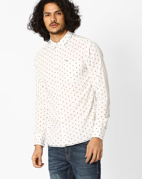 Regular Fit Printed Cotton Shirt By FLYING MACHINE ( Assorted )